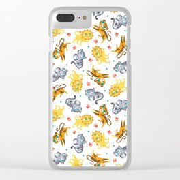 Baby Big Cats Pattern Clear iPhone Case