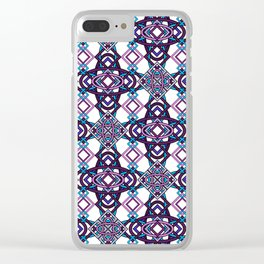Don't Be Cross- Purple Hues Clear iPhone Case