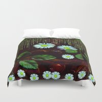 decorative Duvet Covers featuring Gargoyle decorative by Pepita Selles