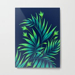 Waikiki Palm - Green Metal Print