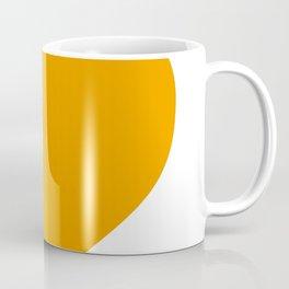 Heart (Orange & White) Coffee Mug