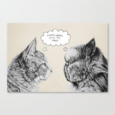 Cat Confusion Canvas Print