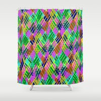 darren criss Shower Curtains featuring Criss Crossover by Sarah Bagshaw