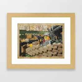 Taking the Bunker Framed Art Print