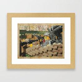 Taking the Bunker Framed Art Print