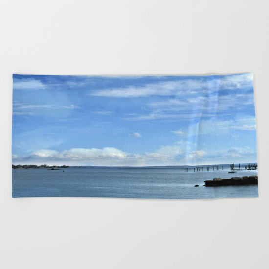 On A Clear Day Beach Towel