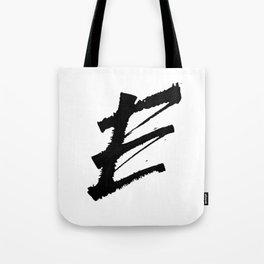 Letter E Ink Monogram Tote Bag