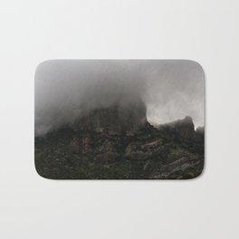 Foggy Chisos Mountaintop, Big Bend - Landscape Photography Bath Mat