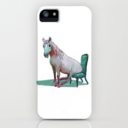 animals in chairs #22 The Unicorn iPhone Case