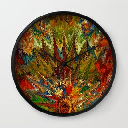 Primordial landscape by rafi talby Wall Clock