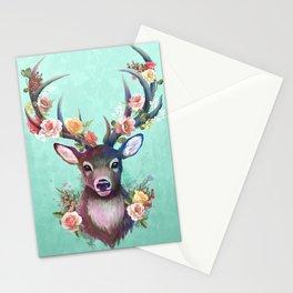 Deer of Spring Stationery Cards