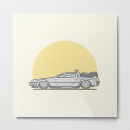 Back to the future DMC DeLorean vector illustration Metal Print