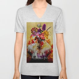 Mrs.Flower Unisex V-Neck