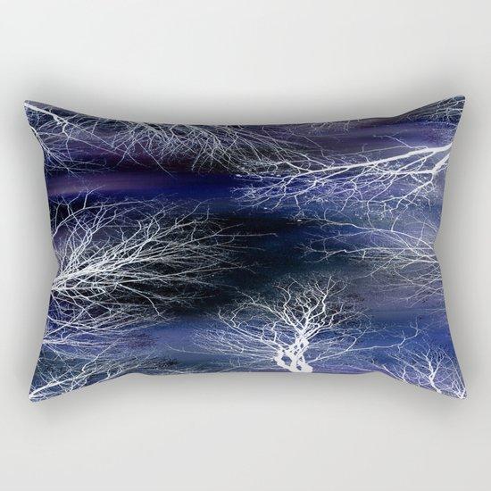 Abstract Midnight Trees Rectangular Pillow
