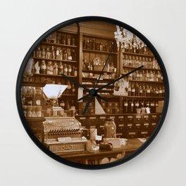 Vintage Apothecary Wall Clock