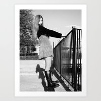 Holly Balancing Art Print