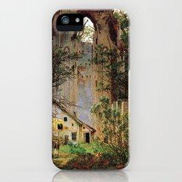 Caspar David Friedrich Monastery Ruins Eldena iPhone Case