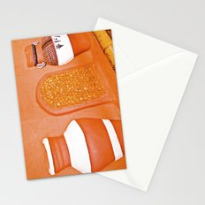 Human and cold rock. Stationery Cards