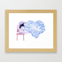 Birthday morning (with a glass of redcurrant juice) Framed Art Print