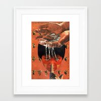 bats Framed Art Prints featuring Bats by Karen Constance Collage and Paintings