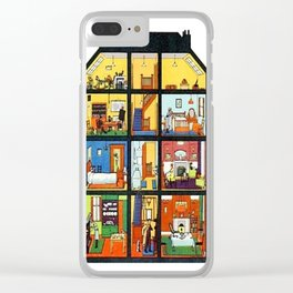Vintage Doll House Clear iPhone Case