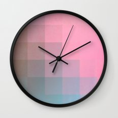 Girly Pixel Surface Wall Clock