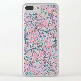 Geometry and math abstract pattern Clear iPhone Case