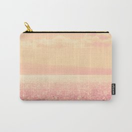 Dreamy Champagne Pink Sparkling Ocean Carry-All Pouch