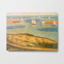 Port-en-Bessin Entrance to the Outer Harbor Georges Seurat - 1888 Impressionism Modern Populism Oil Metal Print