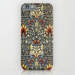 William Morris Indian Snakeshead Victorian Textile Floral Pattern iPhone Case