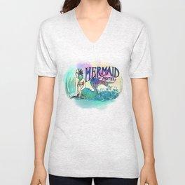 Mermaid Motel Unisex V-Neck