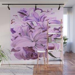 """Purple Lilies"" Wall Mural"