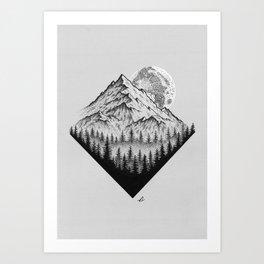 Mountain moonshine Art Print