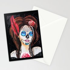 1920's Flapper Sugar skull, Dia de los muertos Stationery Cards
