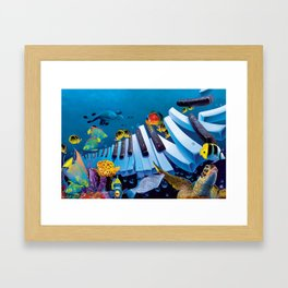 Island Ivories Framed Art Print