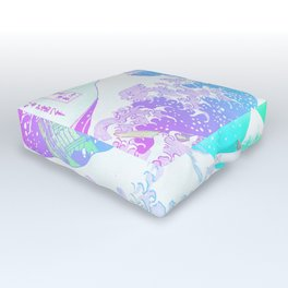 The Great Wave Unicorn Outdoor Floor Cushion