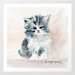 Kitten Portrait Art Print