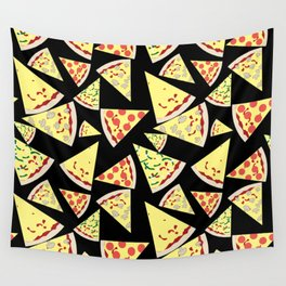 Fun Dynamic Random Pattern Pizza Lover Wall Tapestry