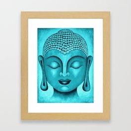 Turquoise Buddha Framed Art Print