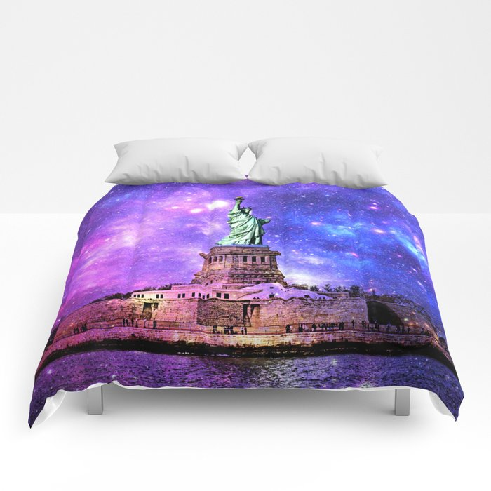 space Statue of Liberty Comforters