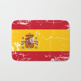Spain flag with grunge effect Bath Mat