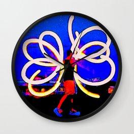 Poi Flowers Wall Clock