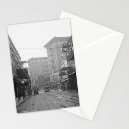 St. Charles Street from Canal, New Orleans, LA Stationery Cards