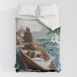 "Winslow Homer's ""Storm Warning"" Revisted Comforters"