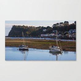 Shaldon at Low Tide Canvas Print