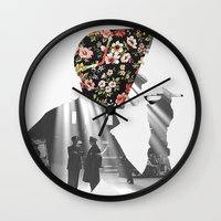 smoking Wall Clocks featuring Smoking by Mrs Araneae