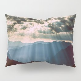 mountainS Dark Sunset Pillow Sham