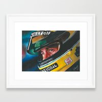 senna Framed Art Prints featuring Ayrton Senna by Sprite Ideas