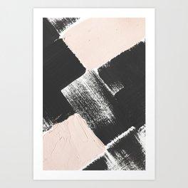 Abstract - pink and black Art Print