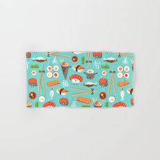Happy Sushi Hand & Bath Towel